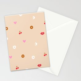 Woman Pattern Stationery Cards
