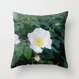white flower 9 Throw Pillow