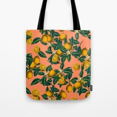 Lemon and Leaf Tote Bag