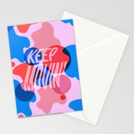 Keep Movin' Stationery Cards