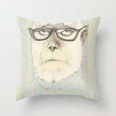 monkey gafapasta Throw Pillow