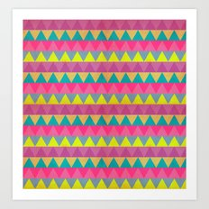 Colored Triangles Art Print
