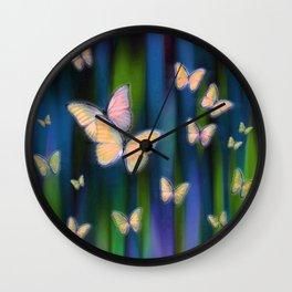 Silken Wings Wall Clock