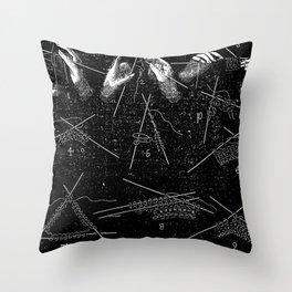 Vintage knitting Throw Pillow
