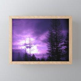 Purple Sunset in Montana Framed Mini Art Print