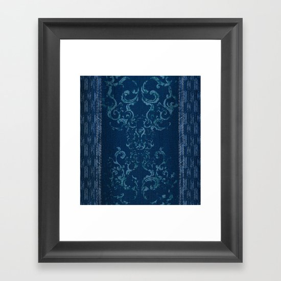 Squirrely Chambray Framed Art Print