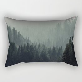 Mt Shasta Forest in Shades of Green Rectangular Pillow
