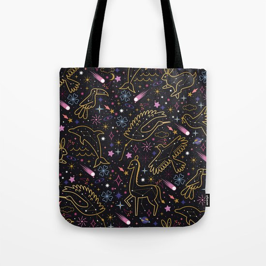 Animal Constellations Tote Bag