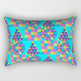 Circle Square Triangle Rectangular Pillow