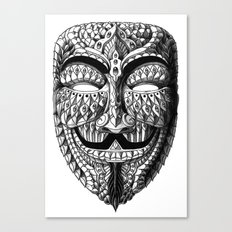 Ornate Anonymous Mask Canvas Print
