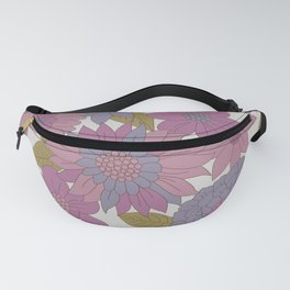 Pink & Purple Retro Floral Pattern Fanny Pack