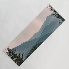 Smoky Mountain Pastel Sunset Yoga Mat