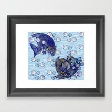 Cats print Framed Art Print
