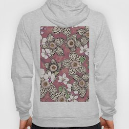 Spotted stapelia flowers and Orchid Hoody