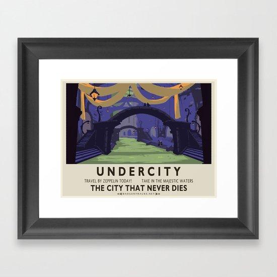 Undercity Classic Rail Poster Framed Art Print