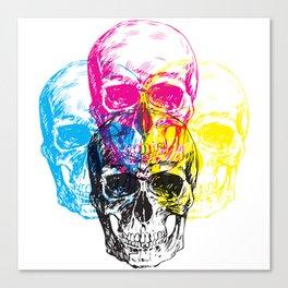 CMYK Skulls Canvas Print