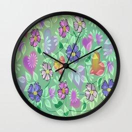 """ Flower Intertwine "" Wall Clock"