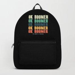 Ok Boomer Retro Meme Gen Z Generation Z Millenials Gift Backpack