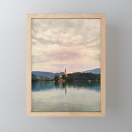 Lake Bled Fairy Tale Framed Mini Art Print