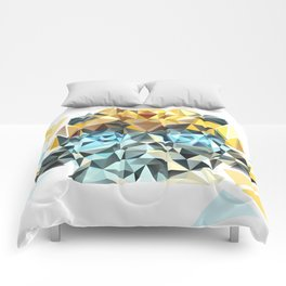 Bumblebee Low Poly Portrait Comforters