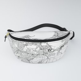 Madison White Map Fanny Pack
