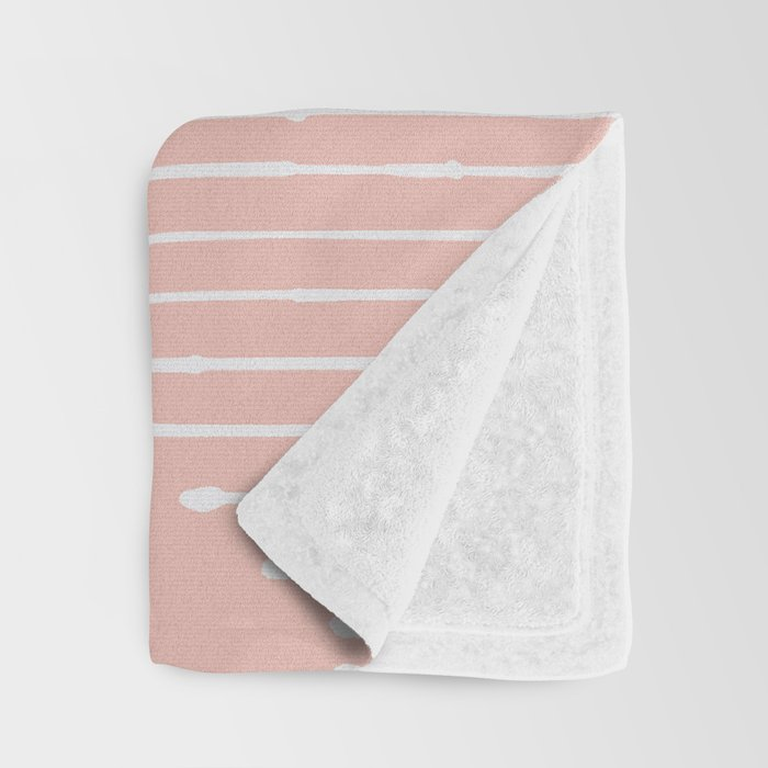 Geo / Blush Throw Blanket