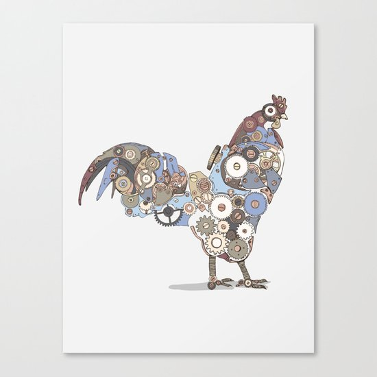 Chicken Alarm Canvas Print