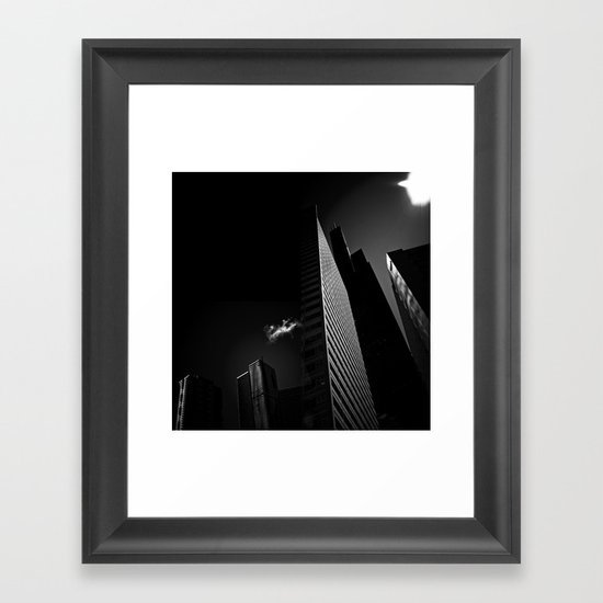 the black building theory - part two Framed Art Print