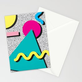 Abstract 1980's Stationery Cards