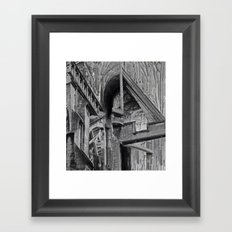 English Gothic (Halftone) Framed Art Print