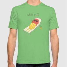 chill pill Mens Fitted Tee Grass LARGE