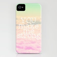 YOU MAKE ME STRONG iPhone (4, 4s) Slim Case