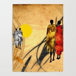Africa retro vintage style design illustration Poster