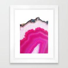 Pink Agate Slice Framed Art Print