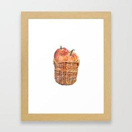 Autumn Basket of Pumpkins Framed Art Print