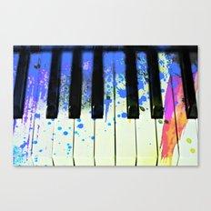 Paint Splashed Keyboard  Canvas Print