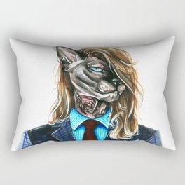 My hipster sphynx Rectangular Pillow