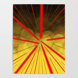 Yellow Complex Abstract Poster