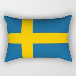 flag of sweden Rectangular Pillow