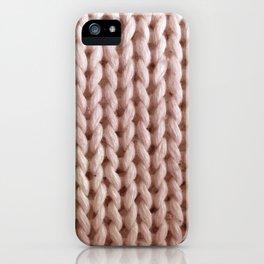knitwit: ballerina pink iPhone Case