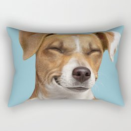 Smiling Dog (Jack Russell) Rectangular Pillow