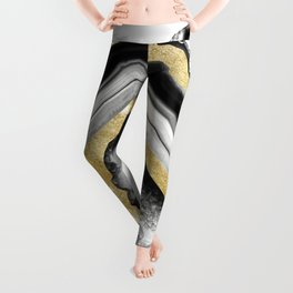 Agate Gold Foil Glam #1 #gem #decor #art #society6 Leggings