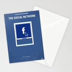 No779 My The Social Network minimal movie poster Stationery Cards