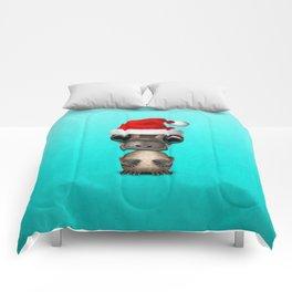 Christmas Platypus Wearing a Santa Hat Comforters
