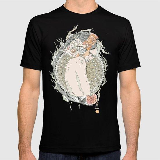 blackened doily T-shirt