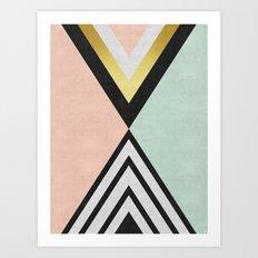 Minimalist fashion and golden I Art Print
