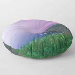 Island landscape Floor Pillow