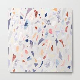 Terrazzo, abstract, floor pattern, granite, mineral, stone, Metal Print