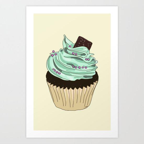 Spongy Cupcake Art Print