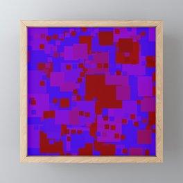 blue on red 2 Framed Mini Art Print